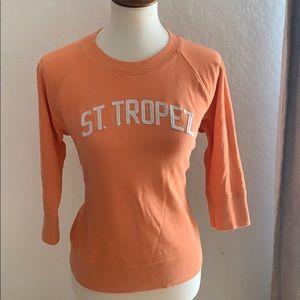 Lucky St. Tropez sweatshirt w/ 3/4 sleeves sz Med